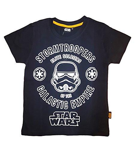 Disney t-Shirt Bimbo Mezza Manica Puro Cotone Star Wars Art. 71-222 (8 Anni, Nero)