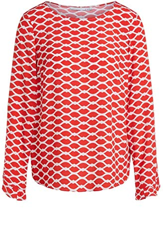 Oui Bluse mit All-Over Muster rot (0361 red White) 40