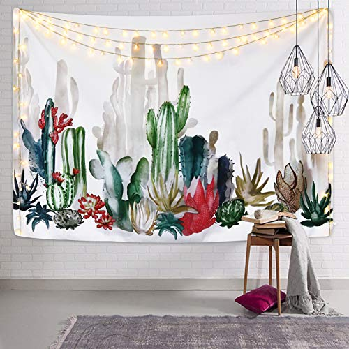 Cactus Tapestry Cactus Plant Printed Tapestry Succulents Tapestry for Bedroom Living Room