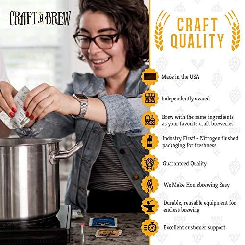 Craft a Brew Home Pinot Grigio Making Kit – Easy Beginners with Ingredients and Supplies – Ultimate Wine Brewing