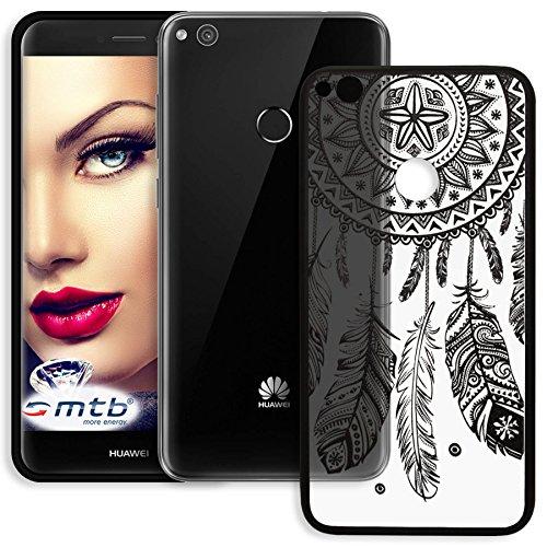 mtb more energy® Schutz-Hülle Lace für Huawei P8 Lite 2017 / P9 Lite 2017 (5.2'') - Dream Catcher - Schwarz - Case Cover Tasche
