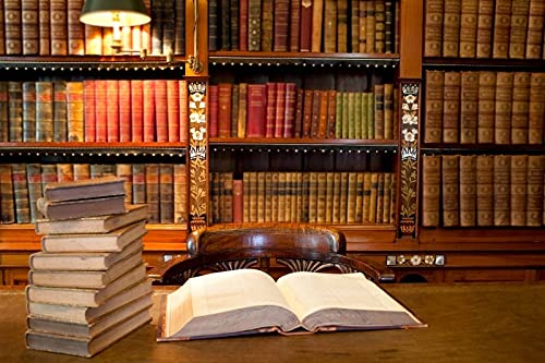 Library Interior Bookshelf Books Photography Backgrounds Photographic Backdrops For Photo Studio A1 10x10ft/3x3m