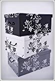 Set of 3 Storage boxes in 3 colours, White, Black and Grey) with 45 Litre...