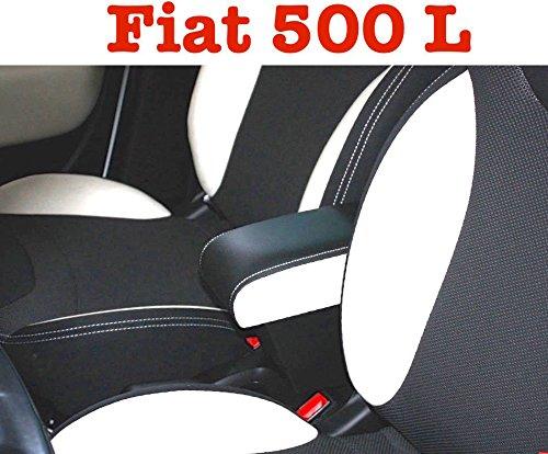 Filocar Design Bracciolo 500L con portaoggetti (Eco Pelle Bicolor Nero e Avorio)