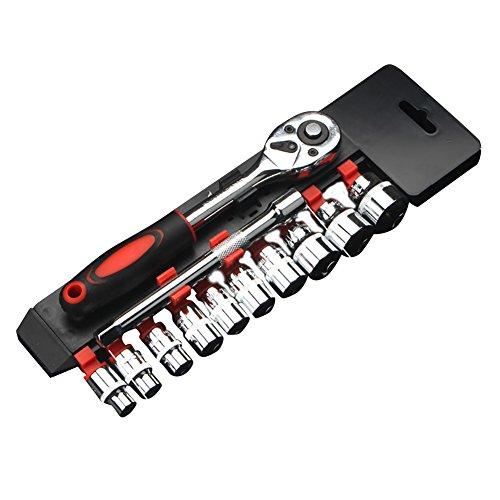 Livecity 12-teiliges Steckschlüssel-Set, 1/4 Zoll (6,35 mm)