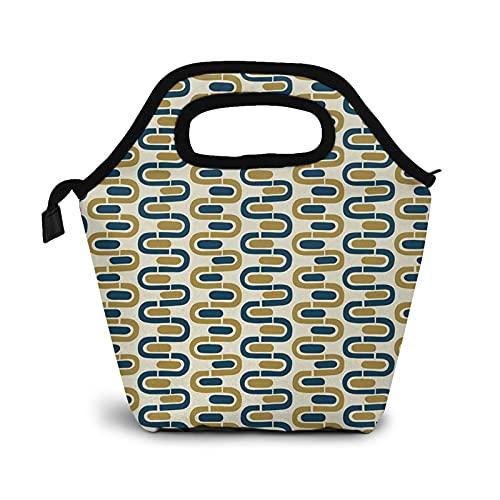 Bolsa Térmica Comida Bolsas De Almuerzo para Mujeres Hombres Niñas Niños Bolsa Isotérmica De Almuerzo Bandas espirales onduladas