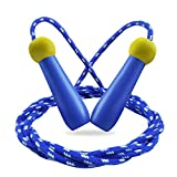 Cuerda para Saltar niños,MAKACTUA Ajustar 2M Comba de Saltar Niños Infantil con Skipping Rope Kids para Fitness, Ejercicio de Intervalos Hombre Mujer