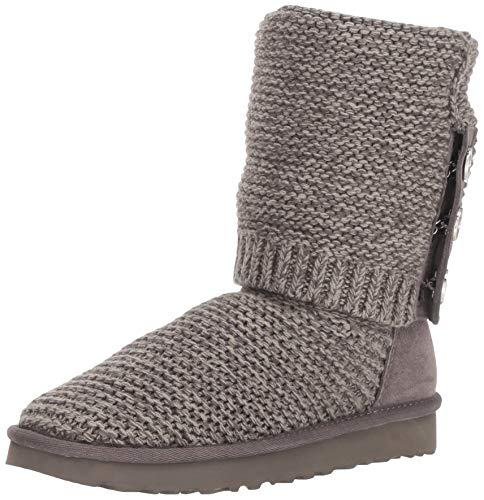 UGG Pearl Cardy Knit Stiefel 2019 Charcoal, 37