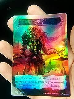 GnD Cards 1x Ajani Steadfast Emblem #2 FOIL Laminated Custom Altered MTG M15