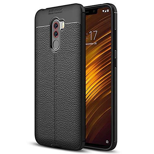 Roar Handyhülle für Xiaomi Pocophone F1 Hülle Schutzhülle Silikon Cover für Xiaomi Pocophone F1, Schwarz