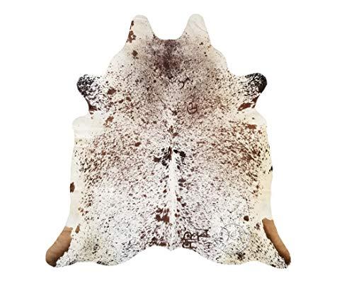 Koeienhuid Tapijt Driekleur zout en peper 210 x 180 cm - Premium kwaliteit van Pieles del Sol uit Spanje