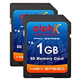 AlphX Innovations 1gb SD Card, pack of 2