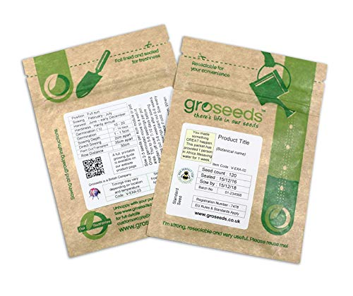 GROSEEDS - Vegetable Seeds, Cauliflower - All Year Round, V-CAU-02, 200 Seeds Minimum Per Packet.