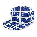 Feamo Quebec Canada Flag Casquette de baseball Papa Chapeau Hommes Femmes Réglable Chapeau Noir