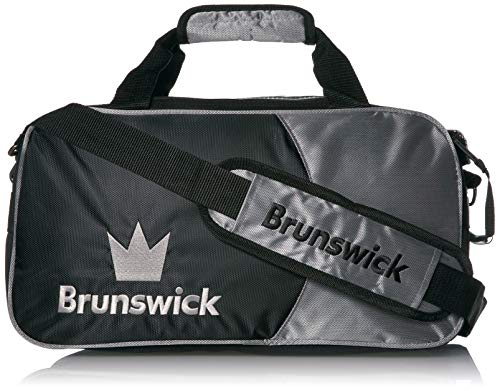 Brunswick Crown Double Tote Bowling Bag, Silber