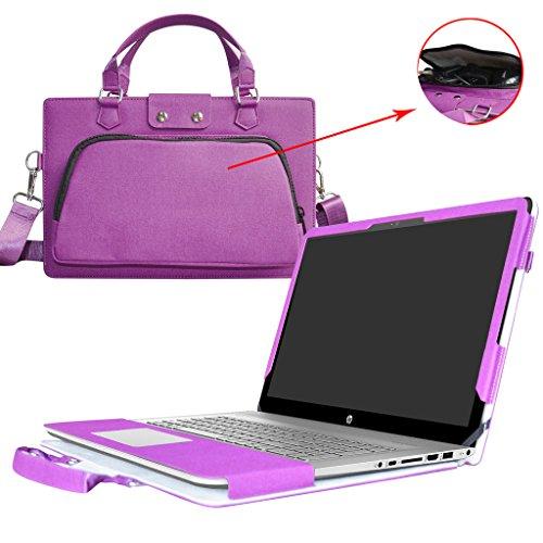 Envy 17 Hülle,2 in 1 Spezielles Design eine PU Leder Schutzhülle + Portable Laptoptasche für 17.3