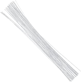Decora 24 Gauge White Floral Wire 16 inch,50/Package