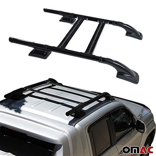 Mitsubishi L2002015de techo Reling & Baca Portaequipajes Juego Negro Aluminio, 4piezas