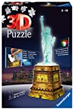 Ravensburger - Puzzle Building 3D Night Edition: Estatua de la Libertad (12596) , color, modelo...