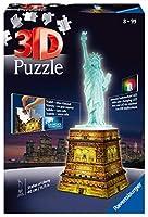 Ravensburger 3D Puzzle für Kinder und Erwachsene: Die weltberühmte Freiheitsstatue als stabiles 3D Puzzle Bauwerk mit den Maßen 18 x 18 x 40 cm und in realitätsgetreuem Design bietet die ideale Kombination aus Puzzeln und Modellbau Mithilfe der bebil...