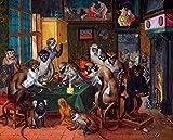 JH Lacrocon Jan Brueghel el Joven - La Alegoría Satírica Reproducción Cuadro sobre Lienzo Enrollado 90X70 cm - Pinturas Animales Impresións Decoración Muro