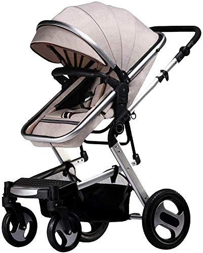 YZPDD Cochecito de bebé Carrera Infantil Sistema de Viaje Paraguas de Paraguas livianas con Canasta con Canasta de bebé (Color : B)