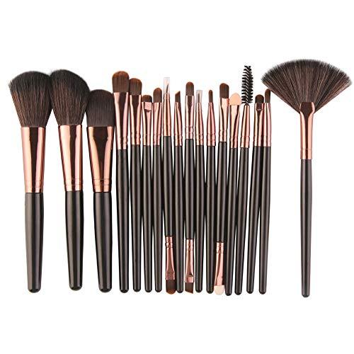 Ming Pinceaux de Maquillage Set 18 pièces de Base mélange Blush Blush Yeux Poudre pour Le Visage cosmétiques Kit de brosses de Maquillage soies synthétiques