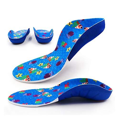 WDSFT Plantillas para Zapatos Desodorante Suela 1 par de niños niños ortótico Apoyo Plano Plantillas Planas Deporte Transpirable XO corrección de piernas pies pies Cuidado Cuidado Insole Insole