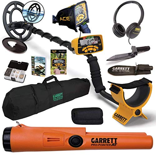 Garrett ACE 300 55th Anniv. Package with Carry Bag and Digger Detectors Metal
