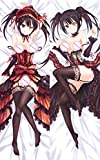 F Zonn Kurumi Tokisaki - Date a Live Anime Darling Hugs Covered Zipper Body Pillow Case, Soft Cover Double Sided Throw 2 Way Tricot Pillowcases 180x60cm(70.87in x 23.6in)