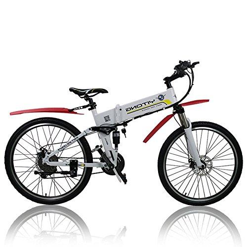 GTYW, Elettrico, Pieghevole, Bicicletta, Montagna, Bicicletta, Ciclomotore, Auto Elettrica, Durata Della Batteria 30KM