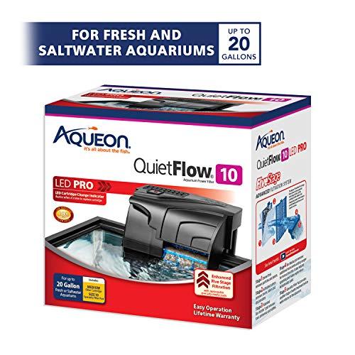 Aqueon QuietFlow 10 Aquarium Power Filter