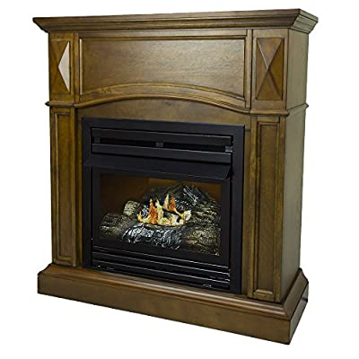 Pleasant Hearth 36 Compact Heritage 20,000 Natural Gas Vent Free Fireplace System 20K BTU