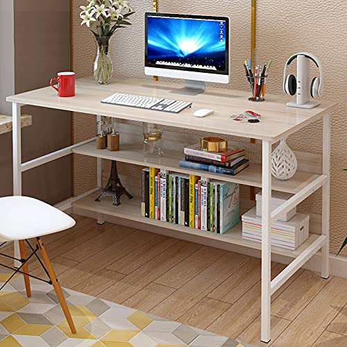 YIJIAHUI Escritorio de ordenador portátil 120 x 45 x 73 cm escritorio de estudio mesa de almacenamiento en casa oficina estación de trabajo ordenador estaciones de trabajo