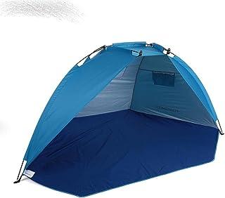 Utomhus strand tält solsken skydd 2 personer robust 170T polyester solskydd tält för fiske camping vandring picknick park