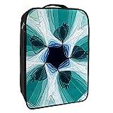 Caja de almacenamiento para zapatos de viaje y uso diario, diseño abstracto caleidoscopio organizador portátil impermeable hasta 12 yardas con doble cremallera y 4 bolsillos
