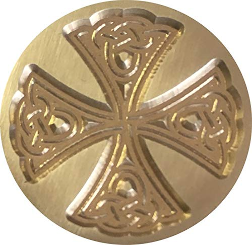 Celtic Cross 1' Diameter Wax Seal Stamp by Seasons Creations