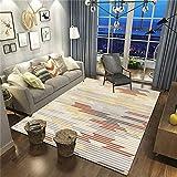 Alfombra geométrica nórdica para Sala de Estar, Manta de Mesa de Centro Minimalista Moderna, Manta de Dormitorio de Lujo Ligero, Manta de Cama para el hogar