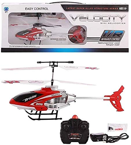 Remote Control Helicopter for Boy and Girl Children's Flying Helicopter with Unbreakable Blades Infrared Sensors - Pack of 1 (Sent as per Available Colours in Stocks)