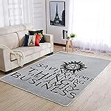 COMBON Shop Soft Area Rugs - Alfombras modernas para interior (91...