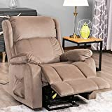 Power Lift Chair for Elderly Reclining Chair Sofa Electric Recliner Chairs with Remote Control Soft Fabric Lounge