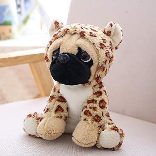 WWWL - Peluche peluche per cani di simulazione di peluche, con carlino di Sharpei, adorabile cucciolo, animale domestico, giocattolo per bambini, 20 cm, colore: marrone