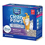 Fresh Step Advanced Clean Paws Clumping Cat Litter, Low Tracking Cat Litter with...