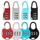 8 lucchetti, serrature a codice, serrature per bagagli e zaino con combinazione in lega a 3 cifre, serrature a codice sono adatte per armadietti da palestra all'aperto, a scuola, valigia e capannone