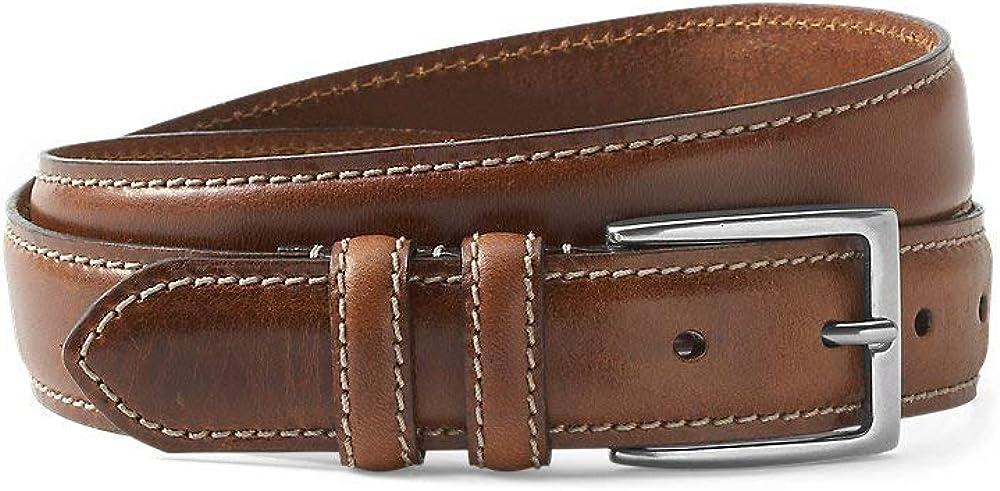 Eddie Bauer Men's Feather Edge Leather Belt