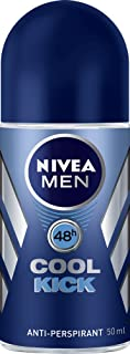 NIVEA MEN Cool Kick Roll On Anti-Perspirant Deodorant, 50ml