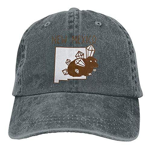 Egoa verrekijker hoed unisex zeevarkentje van de wijnoogst-chic-verstelbare denim verrekijker hoed baseballpet USA-New Mexico