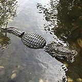Simulation Krokodil Gartendekoration Schwimmender Krokodil-Kopf für Pool, Teich, Garten, Simulation, Krokodil-Köder, Dekoration, lustiges Geschenk für Freunde 80x14x12 cm