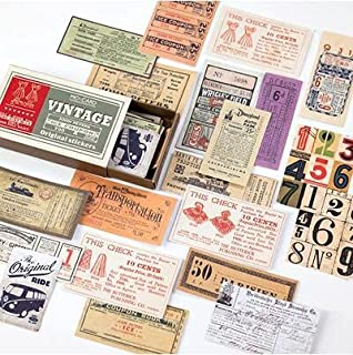 Vimax - Assorted Stickers - 60pcs/pack Vintage Matchbox Plant Travel Diary Sticker Scrapbooking Retro Stamp Stickers Korea...