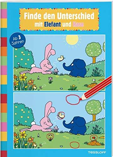 Finde den Unterschied mit Elefant und Hase: Elefantastischer Rätselspaß für Kindergartenkinder (Rätsel, Spaß, Spiele)